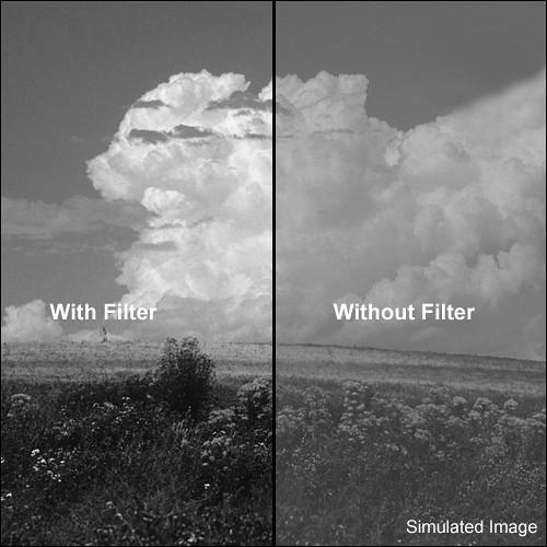 """Tiffen 4x5.65"""" Yellow #12 Glass Filter for Black & White Film"""