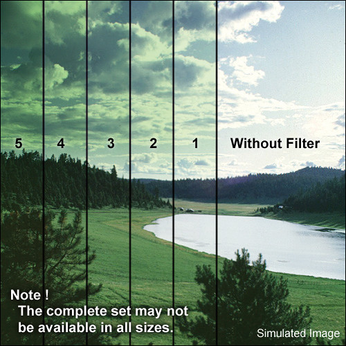 "Tiffen 4 x 5.65"" 5 Green Soft-Edge Graduated Filter (Horizontal Orientation)"