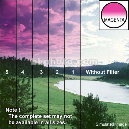 "Tiffen 4 x 5.65"" 1 Magenta Hard-Edge Graduated Filter (Vertical Orientation)"