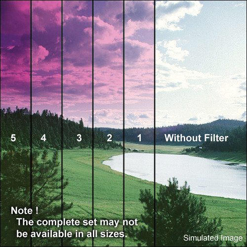 "Tiffen 4 x 5.65"" 5 Magenta Soft-Edge Graduated Filter (Horizontal Orientation)"