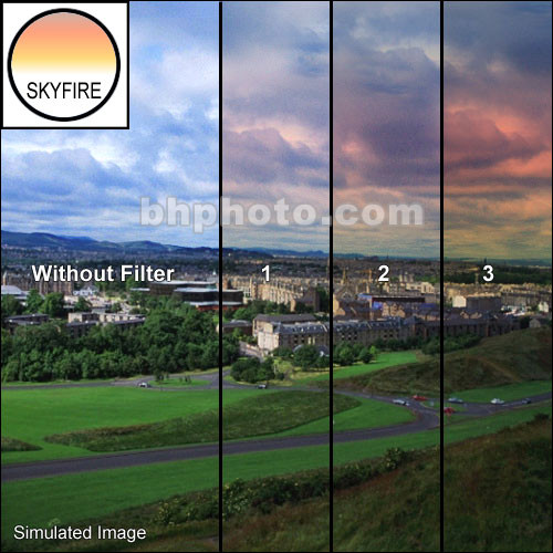 "Tiffen 4 x 5.65"" 1 Skyfire Graduated Filter (Vertical Orientation)"