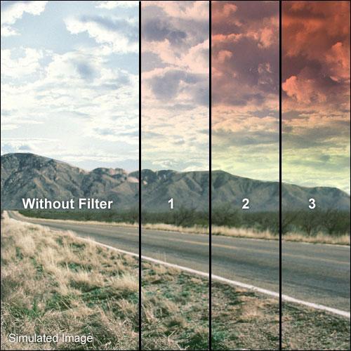 "Tiffen 4 x 5.65"" Graduated Sunset 3 Filter  (Horizontal Orientation)"