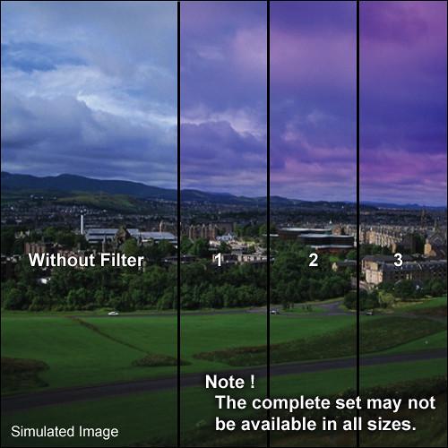 "Tiffen 4 x 5.65"" 3 Twilight Graduated Filter (Horizontal Orientation)"