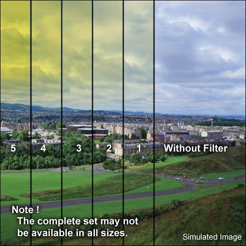 "Tiffen 4 x 5.65"" 1 Yellow Soft-Edge Graduated Filter (Horizontal Orientation)"