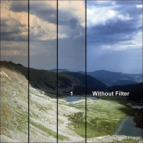 "Tiffen 4 x 5.65"" 1 Chocolate Soft-Edge Graduated Filter (Horizontal Orientation)"