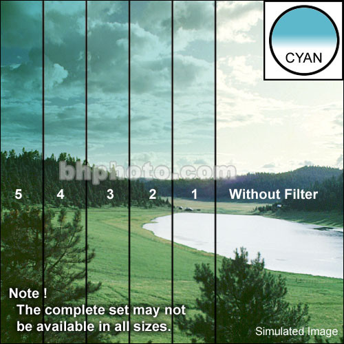 "Tiffen 4 x 5.65"" 3 Cyan Soft-Edge Graduated Filter (Vertical Orientation)"