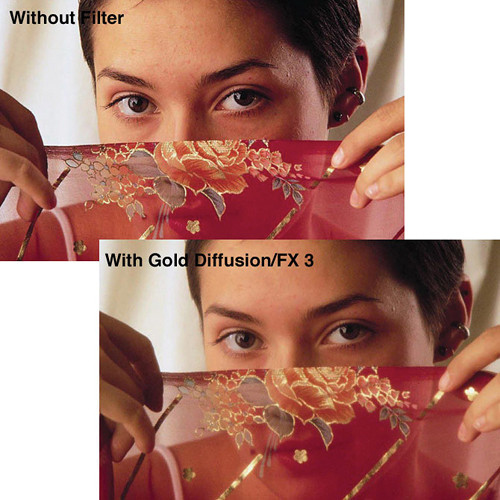 "Tiffen 4 x 5.65"" Gold Diffusion/FX 1/4 Filter"