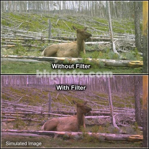 "Tiffen 4 x 5.65"" 1 Plum Soft-Edge Graduated Filter (Vertical Orientation)"