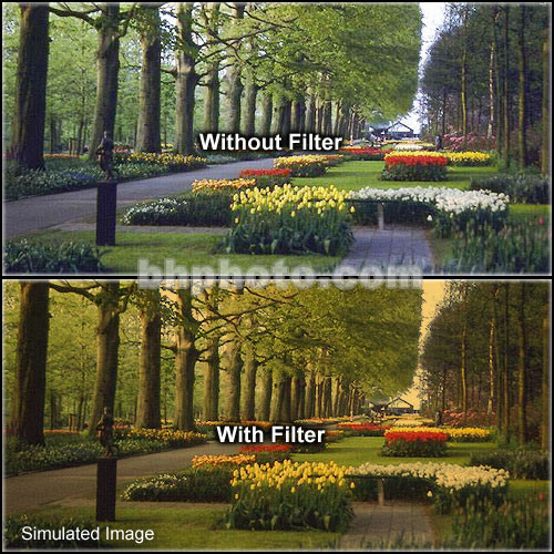 "Tiffen 4 x 5.65"" 2 Tangerine Hard-Edge Graduated Filter (Horizontal Orientation)"
