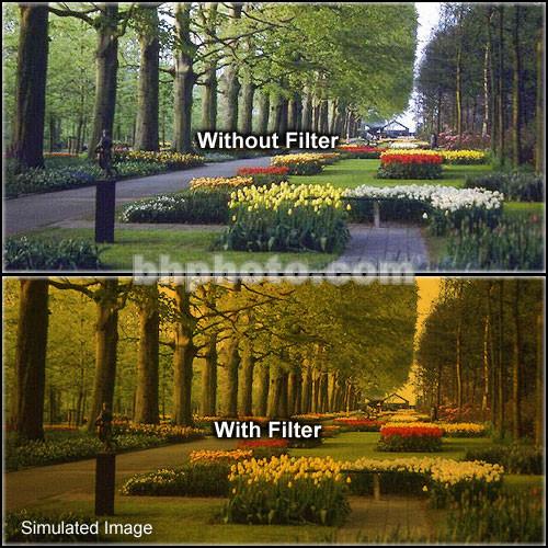 "Tiffen 4 x 5.65"" 3 Tangerine Hard-Edge Graduated Filter (Horizontal Orientation)"