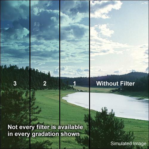 "Tiffen 4 x 5.65"" 2 Tropic Blue Soft-Edge Graduated Filter (Horizontal Orientation)"