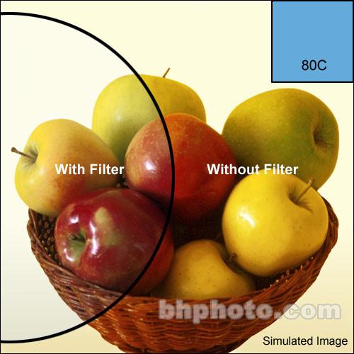"""Tiffen 4 x 5"""" 80C Color Conversion Filter"""