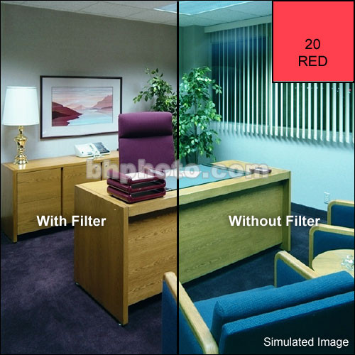"Tiffen 4 x 5"" CC20R Red Filter"