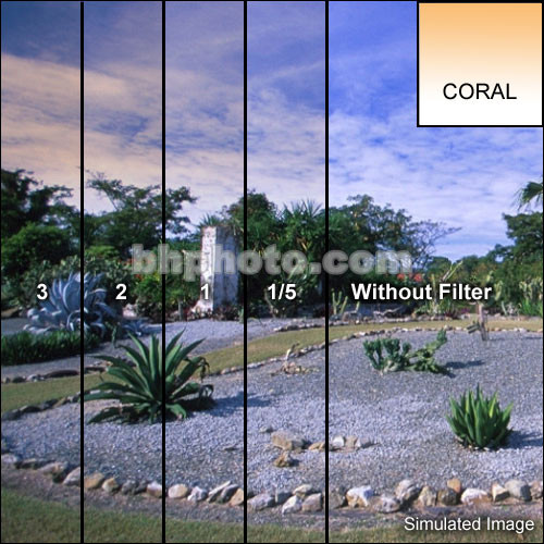 "Tiffen 4 x 5"" 1/4 Coral Soft-Edge Graduated Filter (Horizontal Orientation)"