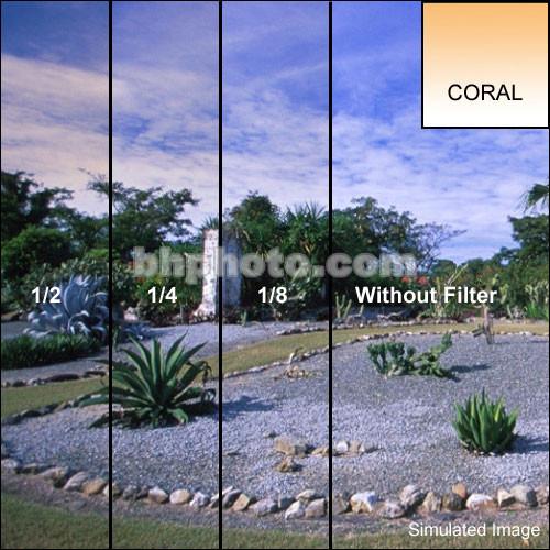 "Tiffen 4 x 5"" 1/8 Coral Soft-Edge Graduated Filter (Horizontal Orientation)"