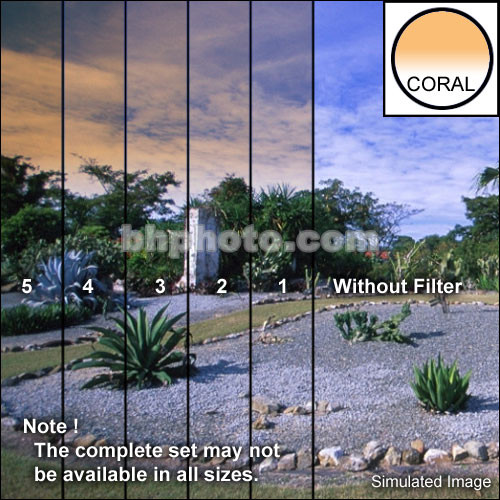 "Tiffen 4 x 5"" 4 Coral Hard-Edge Graduated Filter (Horizontal Orientation)"