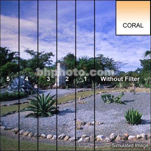 "Tiffen 4 x 5"" 5 Coral Soft-Edge Graduated Filter (Vertical Orientation)"
