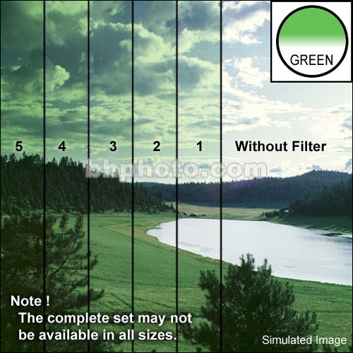 "Tiffen 4 x 5"" 5 Green Hard-Edge Graduated Filter (Horizontal Orientation)"