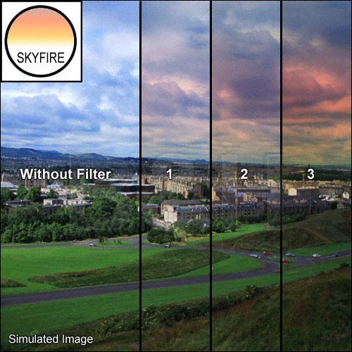 "Tiffen 4 x 5"" 1 Skyfire Graduated Filter (Horizontal Orientation)"