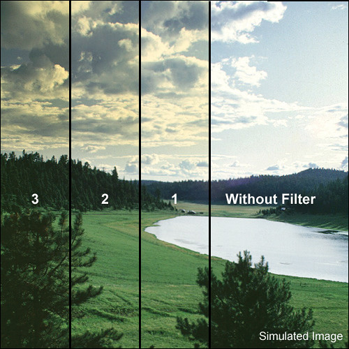 """Tiffen 4 x 5"""" 2 Straw Soft-Edge Graduated Filter (Vertical Orientation)"""