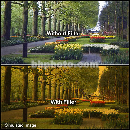 "Tiffen 4 x 5"" 3 Tangerine Hard-Edge Graduated Filter (Vertical Orientation)"