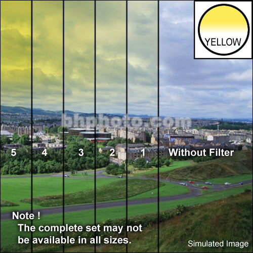 "Tiffen 4 x 5"" 1 Yellow Hard-Edge Graduated Filter (Vertical Orientation)"