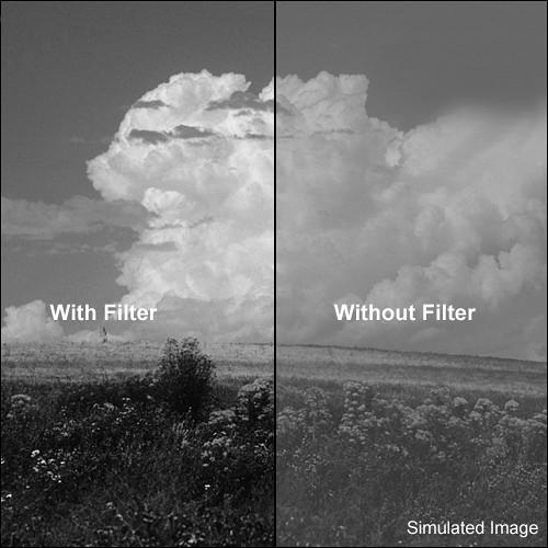 "Tiffen 4x5"" Orange #21 Glass Filter for Black & White Film"