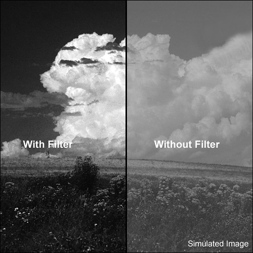 "Tiffen 4x5"" Dark Red #29 Glass Filter for Black & White Film"