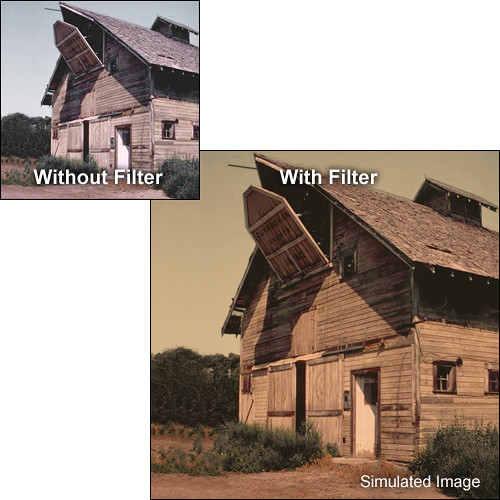 "Tiffen 4 x 5"" 1 Sepia Solid Color Filter"