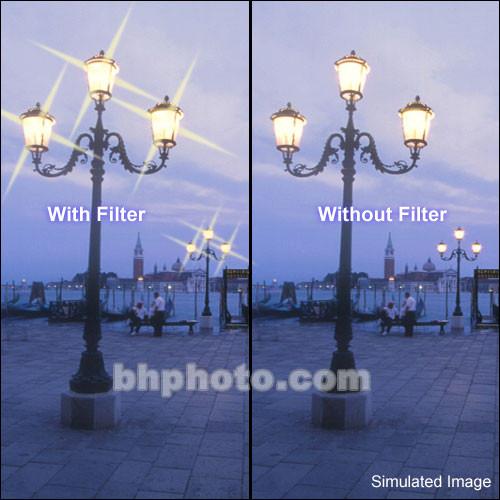 "Tiffen 4 x 5"" 4 Point/4mm Grid Star Effect Glass Filter"