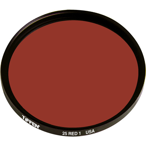 Tiffen 49mm Red 1 #25 Glass Filter for Black & White Film