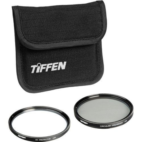 Tiffen 55mm Photo Twin Pack (UV Protection and Circular Polarizing Filter)