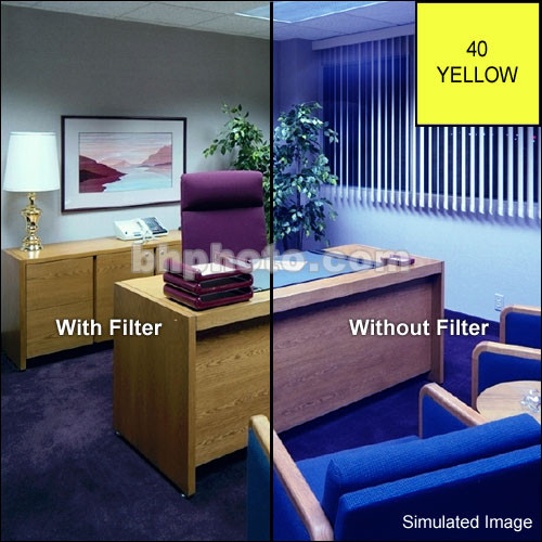 "Tiffen 5 x 6"" CC40Y Yellow Filter"