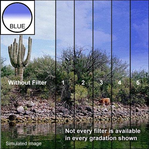 """Tiffen 5 x 6"""" Blue 2 Hard Edge Graduated Filter"""