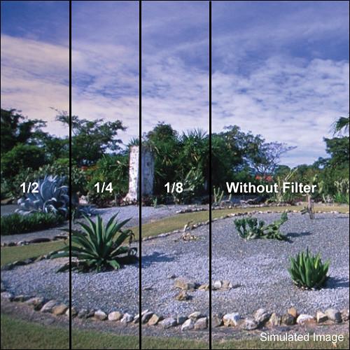 "Tiffen 5 x 6"" 1/2 Coral Soft-Edge Graduated Filter (Horizontal Orientation)"