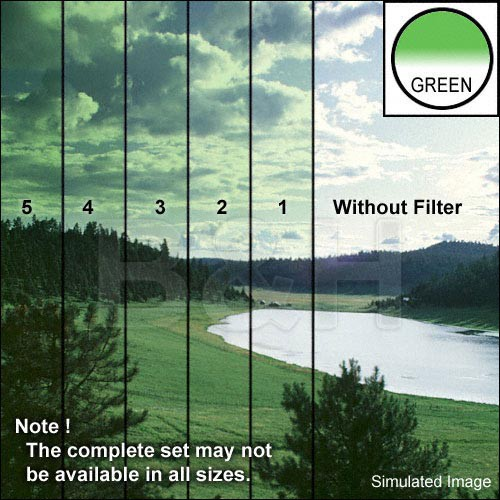 "Tiffen 5 x 6"" 2 Green Hard-Edge Graduated Filter (Horizontal Orientation)"