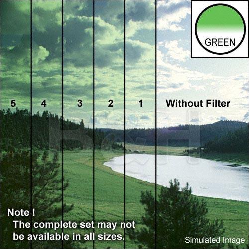 "Tiffen 5 x 6"" 5 Green Hard-Edge Graduated Filter (Horizontal Orientation)"