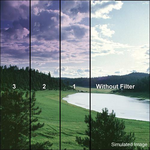 "Tiffen 5 x 6"" 3 Grape Hard-Edge Graduated Filter (Horizontal Orientation)"