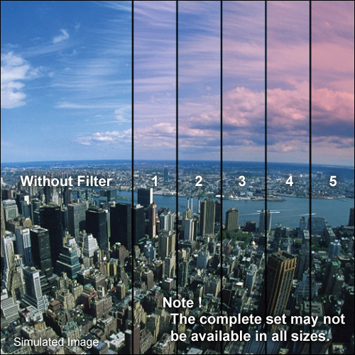 "Tiffen 5 x 6"" 2 Pink Soft-Edge Graduated Filter (Horizontal Orientation)"