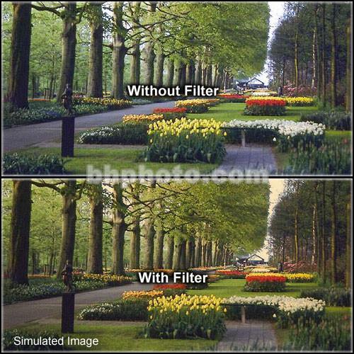 "Tiffen 5 x 6"" 1 Tangerine Hard-Edge Graduated Filter (Horizontal Orientation)"