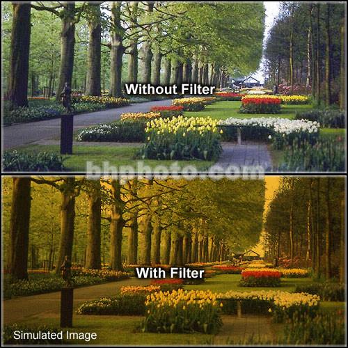 "Tiffen 5 x 6"" 3 Tangerine Hard-Edge Graduated Filter (Vertical Orientation)"