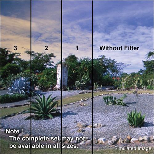 "Tiffen 5 x 6"" 3 Tangerine Soft-Edge Graduated Filter (Horizontal Orientation)"
