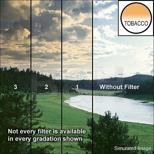 "Tiffen 5 x 6"" 2 Tobacco Hard-Edge Graduated Filter (Horizontal Orientation)"