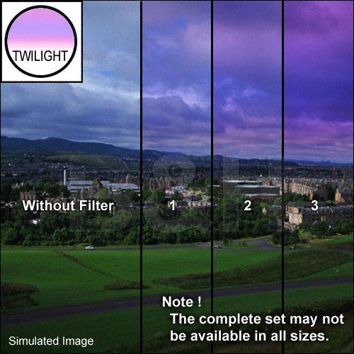 "Tiffen 5 x 6"" 2 Twilight Graduated Filter (Horizontal Orientation)"