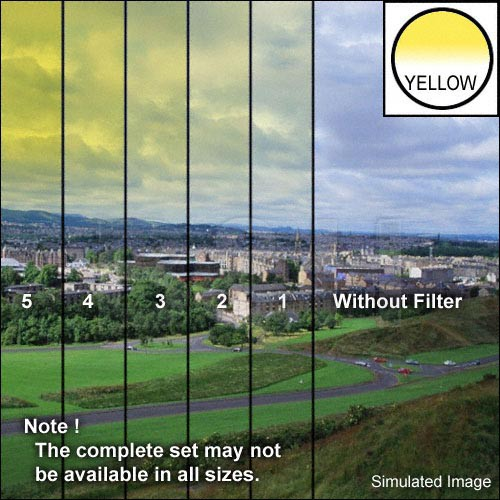 "Tiffen 5 x 6"" 3 Yellow Hard-Edge Graduated Filter (Horizontal Orientation)"