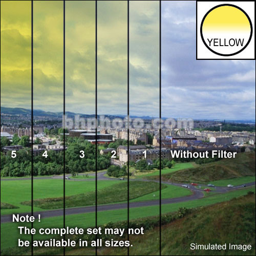 "Tiffen 5 x 6"" 5 Yellow Soft-Edge Graduated Filter (Vertical Orientation)"