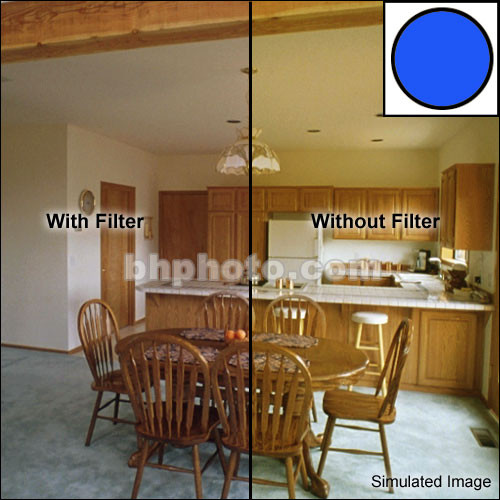 """Tiffen 5 x 6"""" Decamired Blue 1.5 Cooling  Glass Filter"""