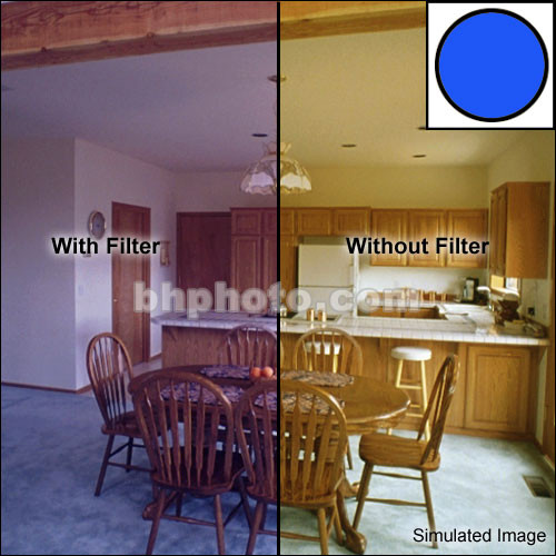 """Tiffen 5 x 6"""" Decamired Blue 12 Cooling  Glass Filter"""