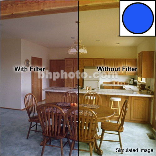 """Tiffen 5 x 6"""" Decamired Blue 3 Cooling  Glass Filter"""