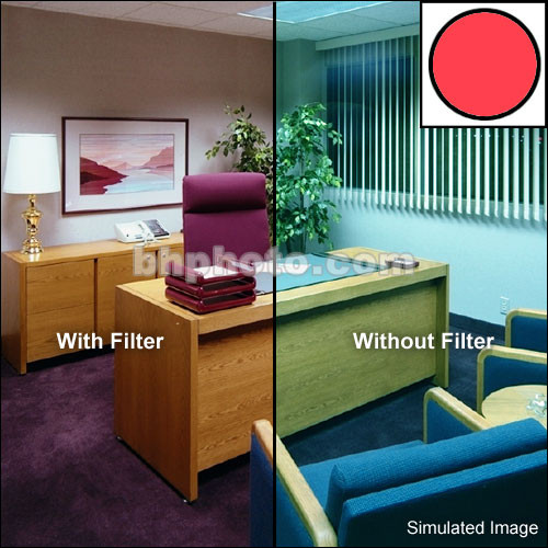 "Tiffen 5 x 6"" Decamired Red 12 Warming  Glass Filter"